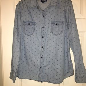 Old navy, chambray/light weight denim shirt